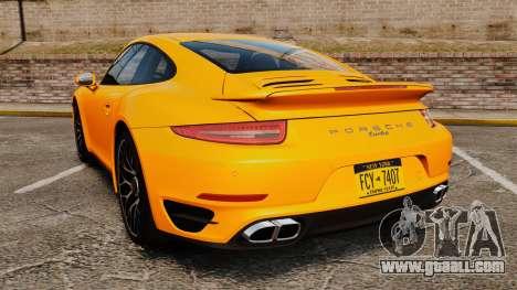 Porsche 911 Turbo 2014 [EPM] for GTA 4 back left view