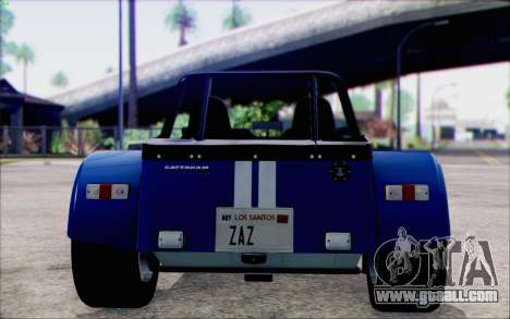 Caterham R500 Superlight 2008 for GTA San Andreas right view
