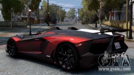 Lamborghini Aventador J 2012 Carbon for GTA 4 right view