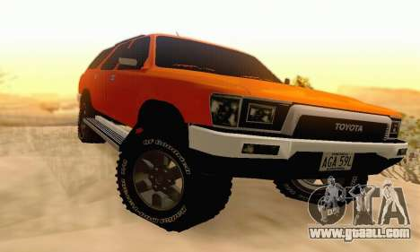 Toyota 4Runner 1995 for GTA San Andreas left view