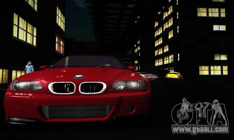 BMW E46 M3 CSL for GTA San Andreas left view