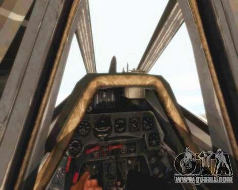 Focke-Wulf FW-190 A5 for GTA San Andreas side view
