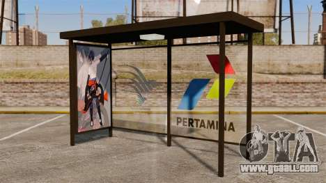 Bus stops Naruto for GTA 4