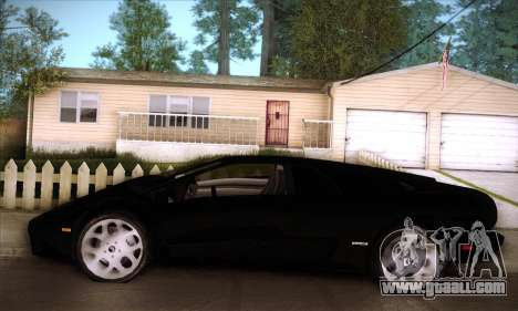Lamborghini Diablo VT6.0 for GTA San Andreas bottom view