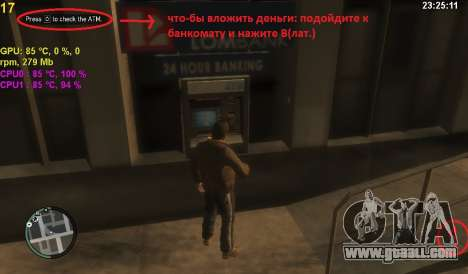 Account at an ATM for GTA 4 second screenshot