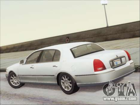 Lincoln Town Car 2010 for GTA San Andreas back view