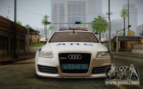 Audi RS6 Police for GTA San Andreas back left view