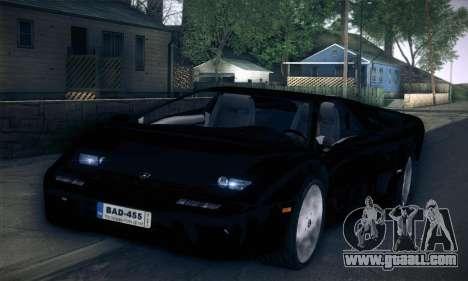 Lamborghini Diablo VT6.0 for GTA San Andreas right view