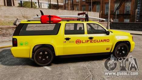 GTA V Declasse Granger 3500LX Lifeguard for GTA 4 left view
