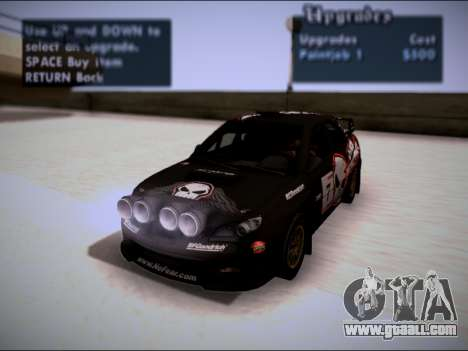 Subaru Impreza WRX STI WRC for GTA San Andreas right view