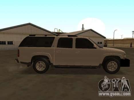Chevrolet Suburban ATTF for GTA San Andreas back view