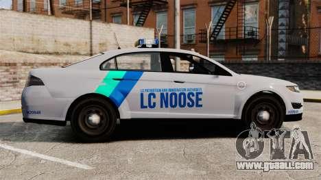 GTA V Vapid Police Stanier Interceptor [ELS] for GTA 4 left view