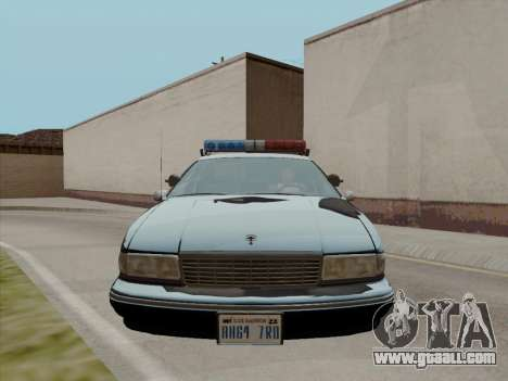 Chevrolet Caprice LAPD 1991 for GTA San Andreas left view