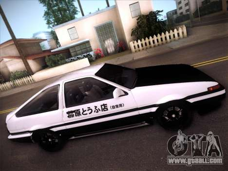 Toyota Trueno AE86 Initial D 4th Stage for GTA San Andreas inner view