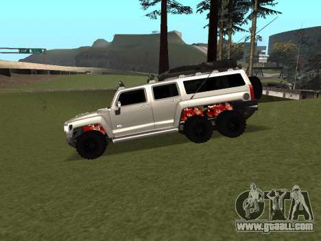 Hummer H3 6x6 for GTA San Andreas left view