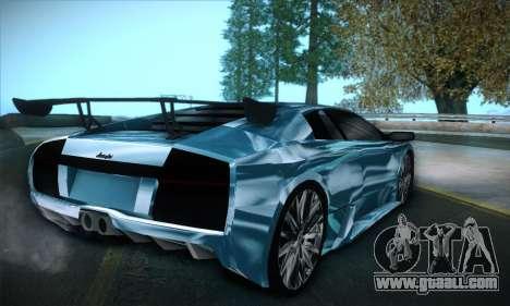 Lamborghini Murcielago GT Coloured for GTA San Andreas left view