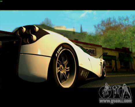 Pagani Huayra 2013 for GTA San Andreas right view