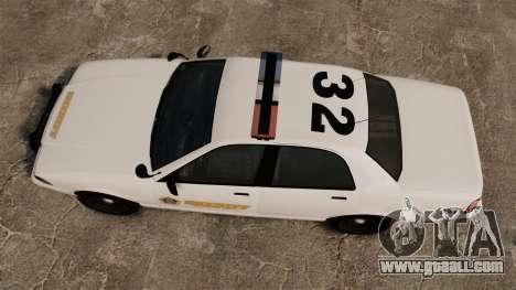 GTA V Police Vapid Cruiser Sheriff for GTA 4 right view