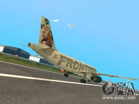 Airbus A319-111 Frontier Airlines Red Foxy for GTA San Andreas right view