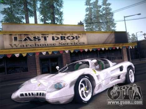 Ferrari P7 Chromo for GTA San Andreas back left view