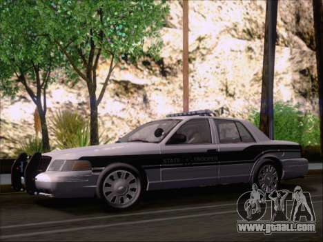 Ford Crown Victoria San Andreas State Trooper for GTA San Andreas inner view