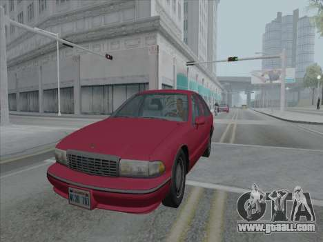 Chevrolet Caprice 1991 for GTA San Andreas right view