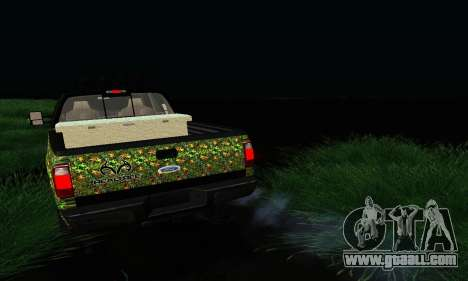 Ford F-250 Realtree Camo Lifted 2010 for GTA San Andreas back view
