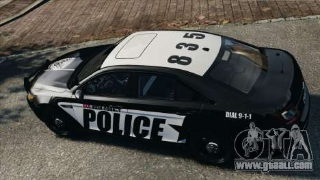 Ford Taurus Police Interceptor 2010 for GTA 4 right view