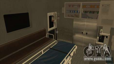 Ambulance HD from GTA 3 for GTA San Andreas inner view