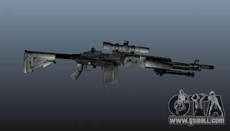 Sniper rifle M21 Mk14 v1 for GTA 4 third screenshot