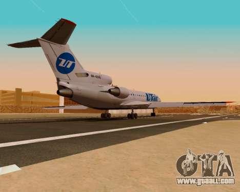 Yak-42D UTair for GTA San Andreas left view