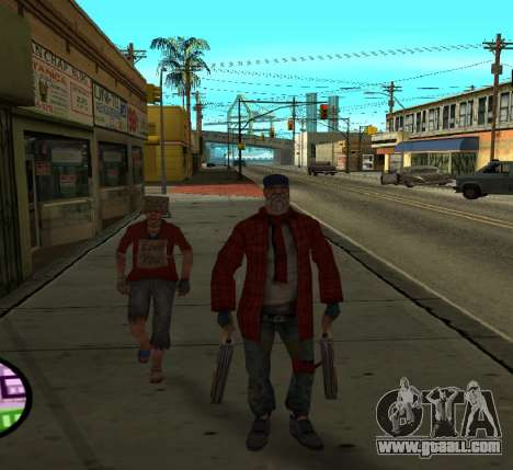 Bums for GTA San Andreas second screenshot