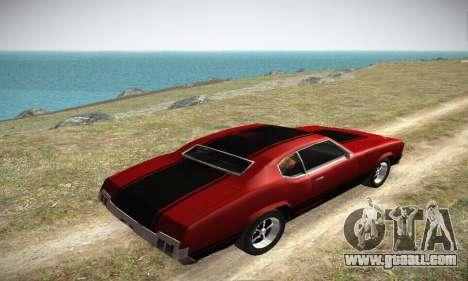 GTA IV Sabre Turbo for GTA San Andreas side view