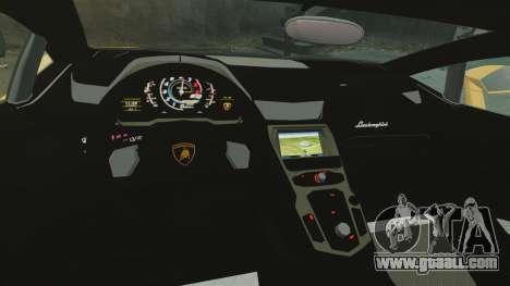 Lamborghini Aventador LP720-4 50th Anniversario for GTA 4 inner view