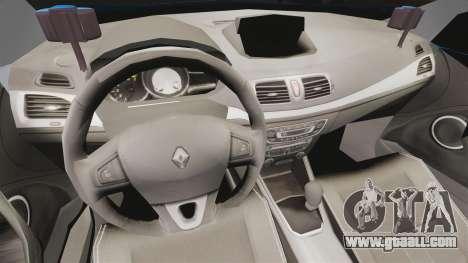 Renault Megane RS Gendarmerie Nationale [ELS] for GTA 4 back view