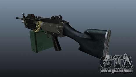 Updated M249 light machine gun for GTA 4 second screenshot