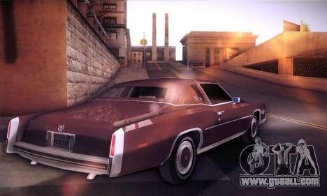 Cadillac Eldorado 1978 Coupe for GTA San Andreas back left view