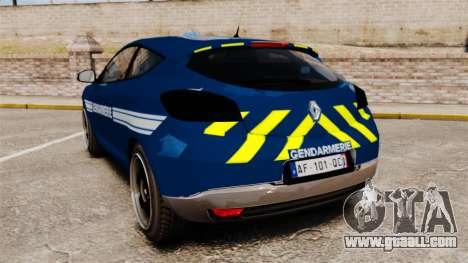 Renault Megane RS Gendarmerie Nationale [ELS] for GTA 4 back left view