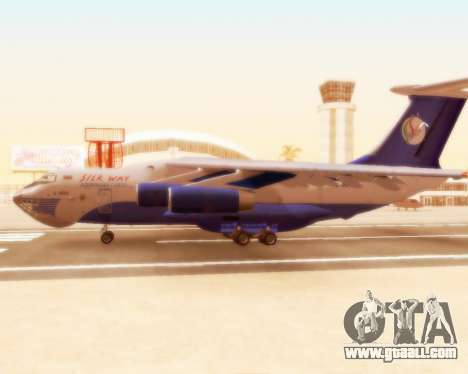 Il-76td Silk Way for GTA San Andreas back left view