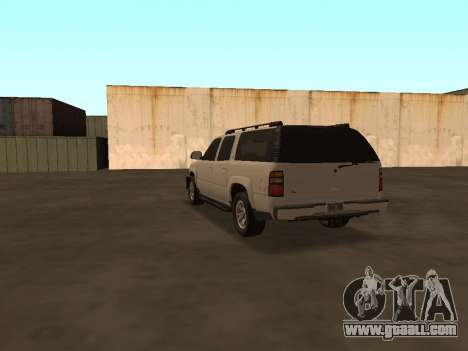 Chevrolet Suburban ATTF for GTA San Andreas back left view