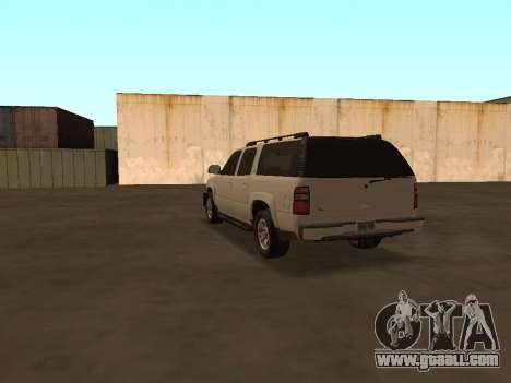 Chevrolet Suburban ATTF for GTA San Andreas back left view
