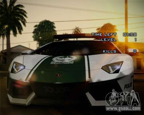 Lamborghini Aventador LP700-4 2012 RCPD V1.0 for GTA San Andreas interior
