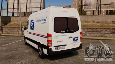 Mercedes-Benz Sprinter US Mail for GTA 4 back left view
