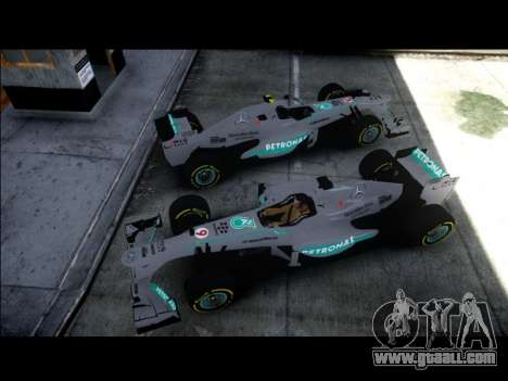 Mercedes F1 W04 for GTA 4 back left view