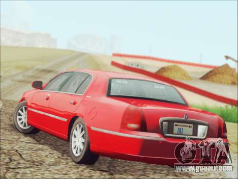 Lincoln Town Car 2010 for GTA San Andreas back left view