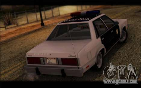 Ford Fairmont 1978 4dr Police for GTA San Andreas left view