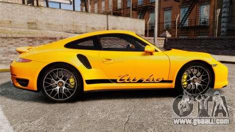 Porsche 911 Turbo 2014 [EPM] Turbo Side Stripes for GTA 4 left view