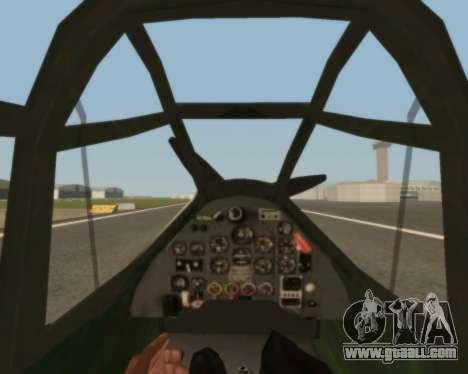 Junkers Ju-87 Stuka for GTA San Andreas inner view