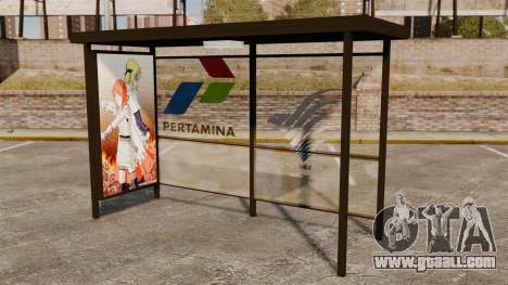 Bus stops Naruto for GTA 4 third screenshot