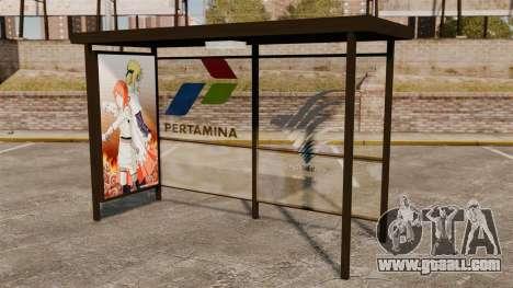 Bus stops Naruto for GTA 4 third screenshot